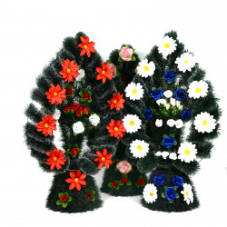 Coroana florala tip lacrima cu picior si cosulet