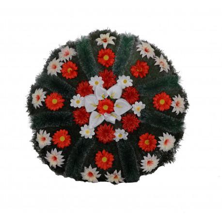 Coroana din pin si brad, rotunda florala mare D 95