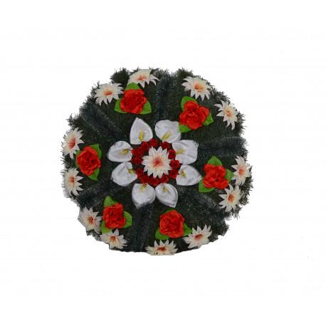 Coroana din pin si brad, rotunda florala mica D 75