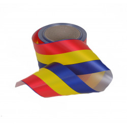 Panglica plastic tricolora 8 cm