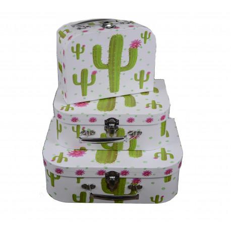 Set 3 cutii tip valiza cu imprimeu foto