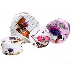 Set3 cutii rotunde cu imprimeu foto H 11 mic