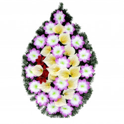 Coroana tip lacrima plina cu flori H 110 C3