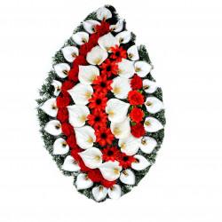 Coroana tip lacrima plina cu flori H 120 C4