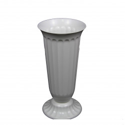 Vaza alba din plastic, mare