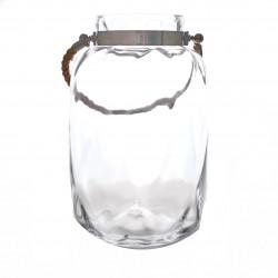 Vaza din sticla transparenta mare