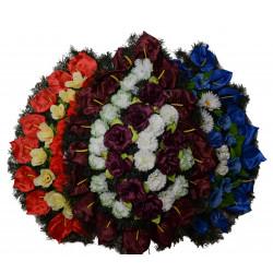 Coroana plina tip lacrima cu flori H 80 C2
