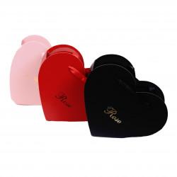 Set doua ghivece din carton tip inima uni