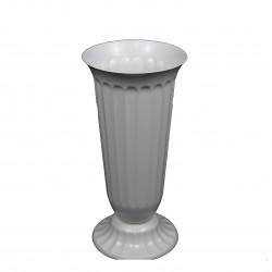 Vaza alba din plastic, medie