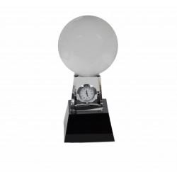 Ornament glob pamantesc cu ceas