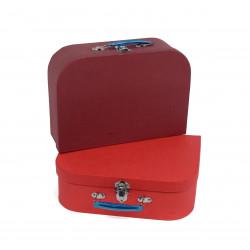 Set 3 cutii tip valiza uni