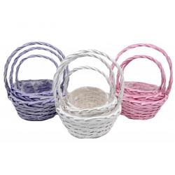 Set 3 cosuri rachita, colorate, rotunde cu o toarta