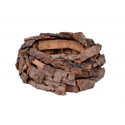 Ghiveci din scoarta de copac, mic, tip cuib