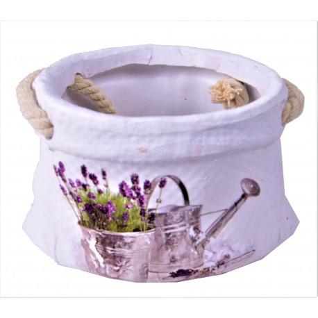 Vas ceramic rotund model saculet H 8
