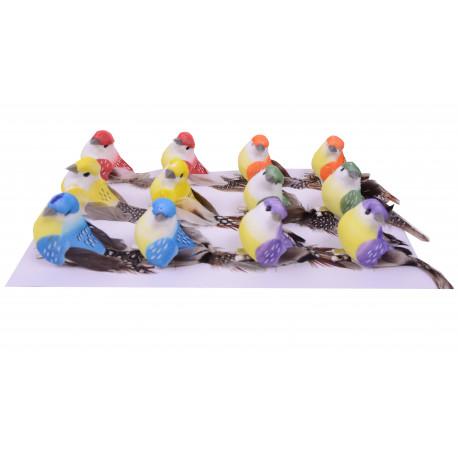 Set 12 pasarele din textil cu clips de agatare