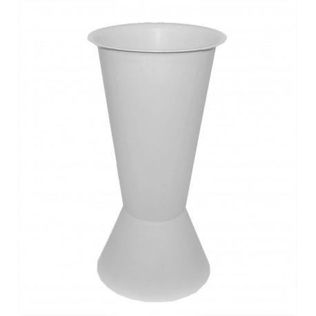 Vaza de plastic cu picior evazat