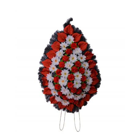 Coroana tip lacrima plina cu flori H 130 C5