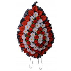 Coroana tip lacrima plina cu flori H 145 C6
