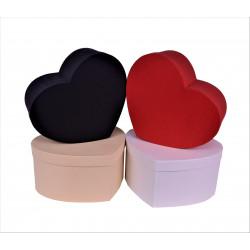 Set 3 cutii tip inima iuni H 16