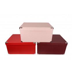 Set 5 cutii dreptunghiulare tip cufar