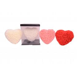 Inima din trandafiri de spuma in cutie transparenta D 25