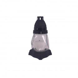 Candela din sticla cu lumanare H 16