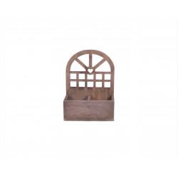 Ghiveci din lemn cu doua compartimente si arcada