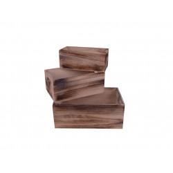 Set 3 cosuri tip ladita din lemn