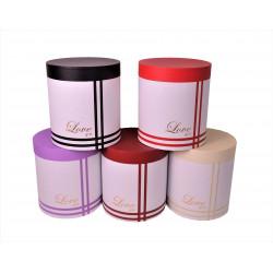 Set 3 cutii rotunde in doua culori H 24