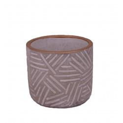 Ghiveci ceramic rotund cu model gravat Φ 10.5