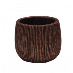Ghiveci ceramic rotund cu model gravat Φ 12