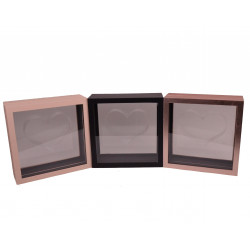 Cutie patrata din lemn si plexiglas