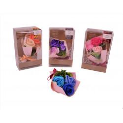 Aranjament parfumat din trandafiri de sapun uni