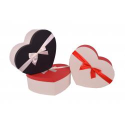 Set 3 cutii tip inima mare in doua culori