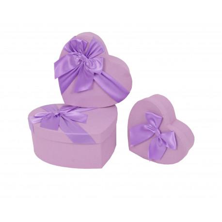 Set 3 cutii tip inima mica uni