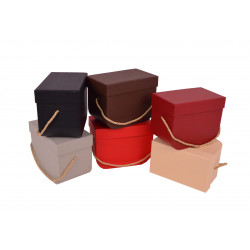 Set doua cutii dreptunghiulare uni cu baza rotunjita