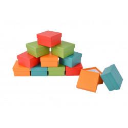 Set 12 cutii patrate mici uni