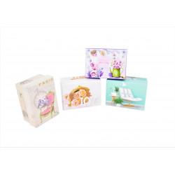 Set 12 cutii dreptunghiulare mici cu imprimeu foto