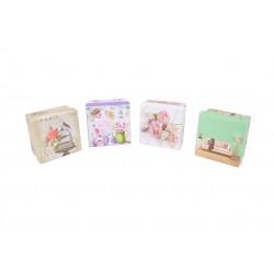 Set 12 cutii patrate mici cu imprimeu foto