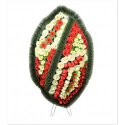 Coroana ovala plina cu flori H 130 C5