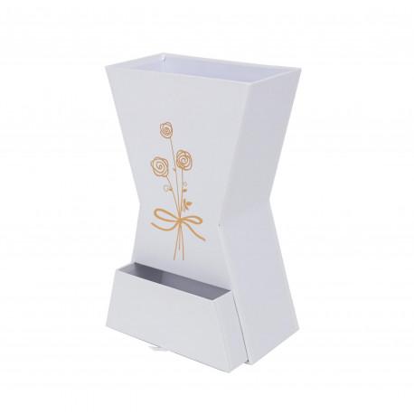 Ghiveci din carton tip clepsidra cu sertar