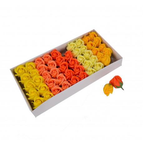 Set 50 trandafiri de sapun multicolori