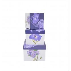Set 3 cutii patrate cu imprimeu H 13