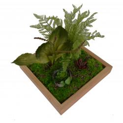 Tablou cu plante artificiale 30 x 30