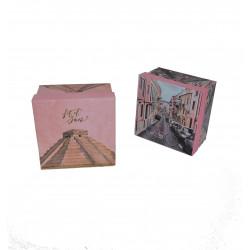 Set 3 cutii patrate cu imprimeu H 8