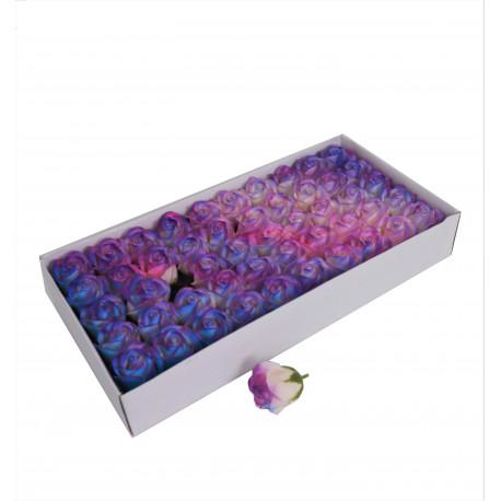 Set 50 trandafiri de sapun degrade multicolori