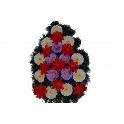 Coroana plina tip lacrima cu flori H 100 C1